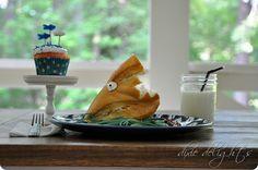 Shark Week Spaghetti (and a cupcake!)
