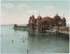 ~ Saltair Pavilion ~ Great Salt Lake, Utah, ca. 1901....