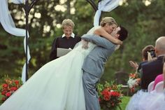 Kissing his beautiful bride! Photo by John LoConte. He's Beautiful, Beautiful Moments, Kissing Him, Wedding Ceremony, Wedding Photography, In This Moment, Wedding Dresses, Image, Collection