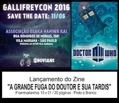 "Eddy Khaos: Gallifreycon 2016 - Lançamento do Zine ""A GRANDE F..."