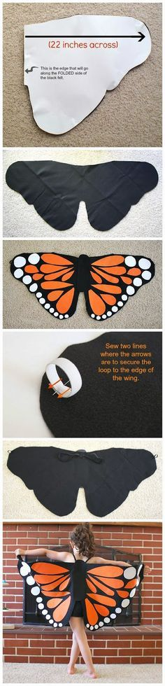 Felt Monarch Butterfly Wings ... the next project for BB!