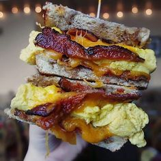 We've been dreaming about this breakfast sandwich since @missfoodieproblems posted about it! #thebaconparty #JustBaconIt