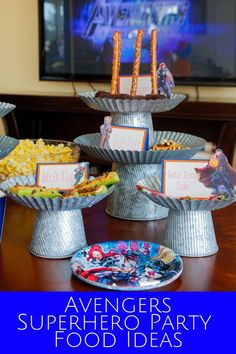 You're going to love these Marvel superhero party food ideas for your Avengers: Endgame family movie night! These are simple and easy but creative ideas using food you probably already have in your fridge or pantry. Avengers Endgame | Avengers birthday party | Avengers family movie night | Family Movie Night snacks | Family Movie Night Ideas | Marvel Superheros Party | #jordanseasyentertaining