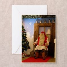 Shop Greeting Cards from CafePress. Find great designs on our high quality greeting cards. Christmas Greeting Cards, Christmas Greetings, Father Christmas, Postcards, Paper, Design, Art, Art Background, Papa Noel