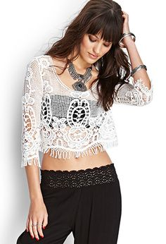 Crocheted Crop Top | FOREVER21 - 2000087230