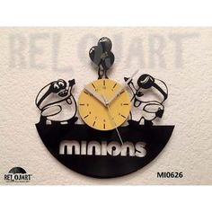 Original Reloj De Pared En Disco De Vinil - Minions
