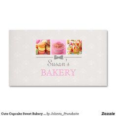 Cute Cupcake Sweet Bakery Business Card