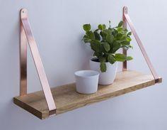 Nuk Shelf / copper + oak wood / Designed by Moskou
