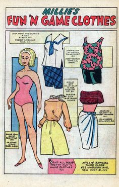 1964 Modeling With Millie paper doll / albionblake77.blogspot.com