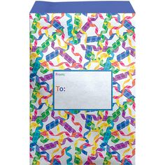 """Large 11"""" x 15.5"""" Printed Birthday Padded Mailing Envelopes, Streamers Mailing Envelopes, Party Streamers, 30 Gifts, Fine Paper, Biodegradable Products, Pastel Blue, Tissue Paper, Contents, Presents"""