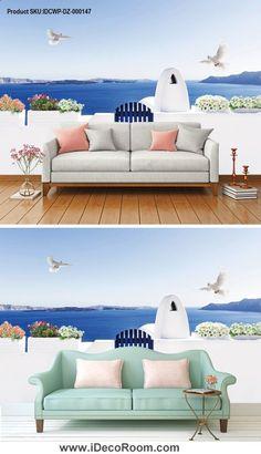 Stickers muraux Papier peint mural 3D st/ér/éo Magnolia fleurs paon peinture murale salon TV canap/é fond papiers peints pour murs 3 D