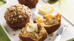 Sweet bits of dried apricots balance the hearty texture of oats in mouth-watering muffins.