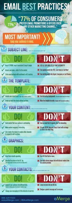 Email best practices #infografia #infographic #marketing