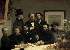 """Henri Fantin-Latour, """"Coin de table"""" (1872)"""