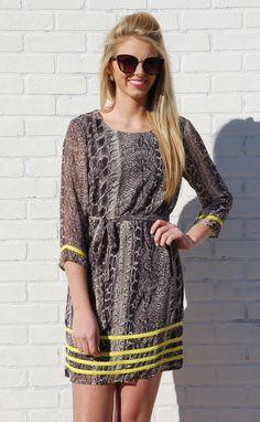 Too Hot to Handle Python Shirt Dress #dresses #sale