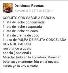 Coquito de Parcha (hispanic desserts puerto rico)