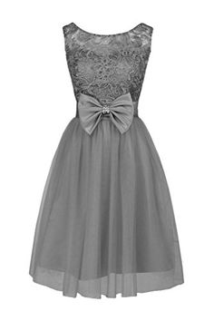 Ellames Short Bridesmaid Prom Dress Lace Homecoming Dresses For Juniors Grey US 18Plus Ellames http://www.amazon.com/dp/B00Y6BRK7K/ref=cm_sw_r_pi_dp_E7hawb0SRH5BG