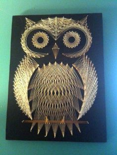 Amazing owl string art