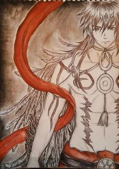 My drawing of Sinbad with his Focalor djinn equip