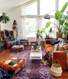 Big Dreamy Bohemian House with Best of Exterior Interior Decor Ideas - Bohemian Living Rooms Scandi Living Room, Bohemian Living Rooms, Design Living Room, Living Room Decor, Decor Room, Bohemian Apartment Decor, Scandi Home, Bohemian Furniture, Hippie Living Room