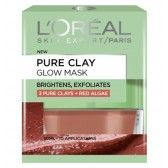 L'Oreal Paris Pure Clay Glow Mask glides over the skin effortless, leaving behind glowing & smooth skin.