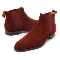 Edward Green Camden Boot In Clove Suede