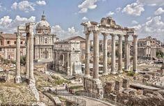 Il Foro romano, una meraviglia nelle foto ma uno spettacolo di cui la grandezza e la maestà non hanno pari in vita vera.