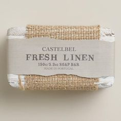 One of my favorite discoveries at WorldMarket.com: Castelbel Fresh Linen Bar Soap