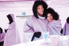 The, (very cold), Ice Bar onboard the Norwegian Epic