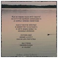 #valoisa #elinasalminen #runoilijaelinasalminen #elinakesken Carpe Diem Quotes, Closer To Nature, Picture Video, Cool Pictures, Poems, Thoughts, Instagram, Art, Art Background