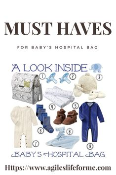 Need to know what to pack for your baby's arrival at the hospital? Here's a great list with everything you'll need! #hospitalbag #babybag #laborday #birth