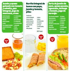 Te mostramos 15 opciones diferentes para que no batalles a la hora del desayuno. Ya sea que tu se lo prepares o que pidas que en su escuela les den desayuno