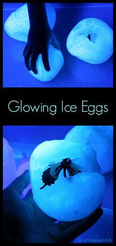 Glowing Ice Egg Excavation from Fun at Home with Kids
