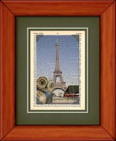 Dictionary Print  Owlex In Paris   6 3/4 x 9 3/4 by PagesOfAges, $7.00