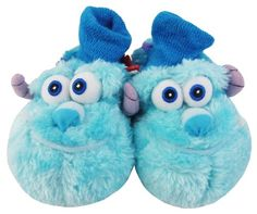 4e5253536601 DISNEY PIXAR Boys Girls Kids Baby Infant MONSTERS INC UNIVERSITY Faux Fur Novelty  Slippers  Amazon.co.uk  Shoes   Bags