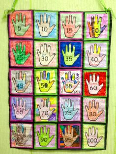 Here's a nice idea for making a skip counting quilt.