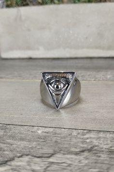 Ανδρικό δαχτυλίδι 'Eye of Providence' (Ατσάλι)