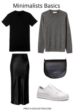 Add only basics to your wardrobe and you have always something to wear - The Effective Pictures We Offer You About vogue fashion A quality picture can tell you many things - Spring Outfits Women, Cool Summer Outfits, Simple Outfits, Casual Outfits, Dress Outfits, Minimalist Fashion Women, Minimal Fashion, Mode Outfits, Fashion Outfits