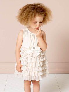 @twinsetofficial Girl spring 2015, white dress from the newborn collection. #twinset #twinsetgirl #SS15 #spring #summer #springsummer2015 #childrens #kids #childrenswear #kidswear #kidsfashion #girls #pittibimbo79
