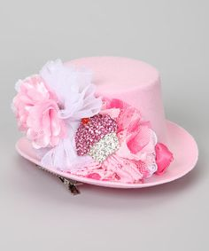 Loving this Pink Cupcake Mini Top Hat on #zulily! #zulilyfinds