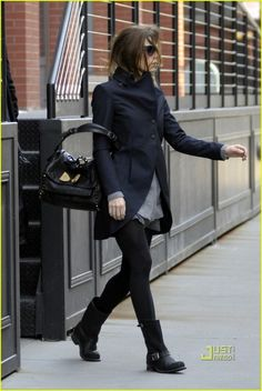 Jessica Biel and Frye Engineer 12R Boots Photograph