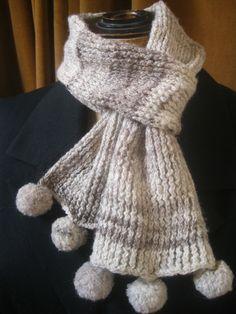 Handspun Shetland Wool Knitted Scarf Natural by KnitwitDesignsUK, £24.00
