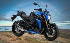 Download wallpapers Suzuki GSX-S1000, 2018 bikes, superbikes, japanese motorcycles, Suzuki