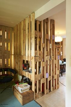 pallet furniture designed by le genou vrillé: Elisabeth Bikond Nkoma and Guiavarc'h Rafael