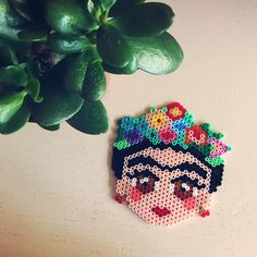 Frida Kahlo - Dascha Busch - Arabischer Stil Source by , Perler Bead Templates, Diy Perler Beads, Pearler Beads, Melty Bead Patterns, Hama Beads Patterns, Beading Patterns, Embroidery Patterns, Pixel Beads, Fuse Beads