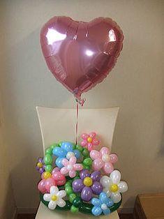 バルーンフラワー、バルーンギフト花束-卒業,入園、誕生日や発表会,結婚祝い,退職祝い,送別会などに人気のバルーンの花束