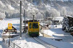 Ferrocarril de cremallera en Wengen