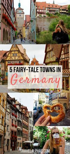 Are you traveling to Germany soon? Looking for some Germany travel inspiration and tips? Here are five of the most picturesque, fairy-tale towns in Germany. These towns will absolutely be a highlight of your trip to Europe. Wondering which towns are pictured here? Regensburg and Rothenburg ob der Tauber are two of them. Click through to find out the other three quaint towns we visited in Germany on our Viking River Cruise. #germanytravel