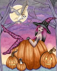 Witch Art Print - Zoe  - by Nikki Burnette