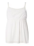 Womens Ivory Lace Yoke Cami Top- Ivory